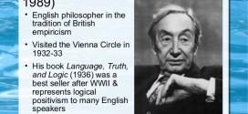Ulasan Kritis terhadap Pemikiran Alfred Jules Ayer